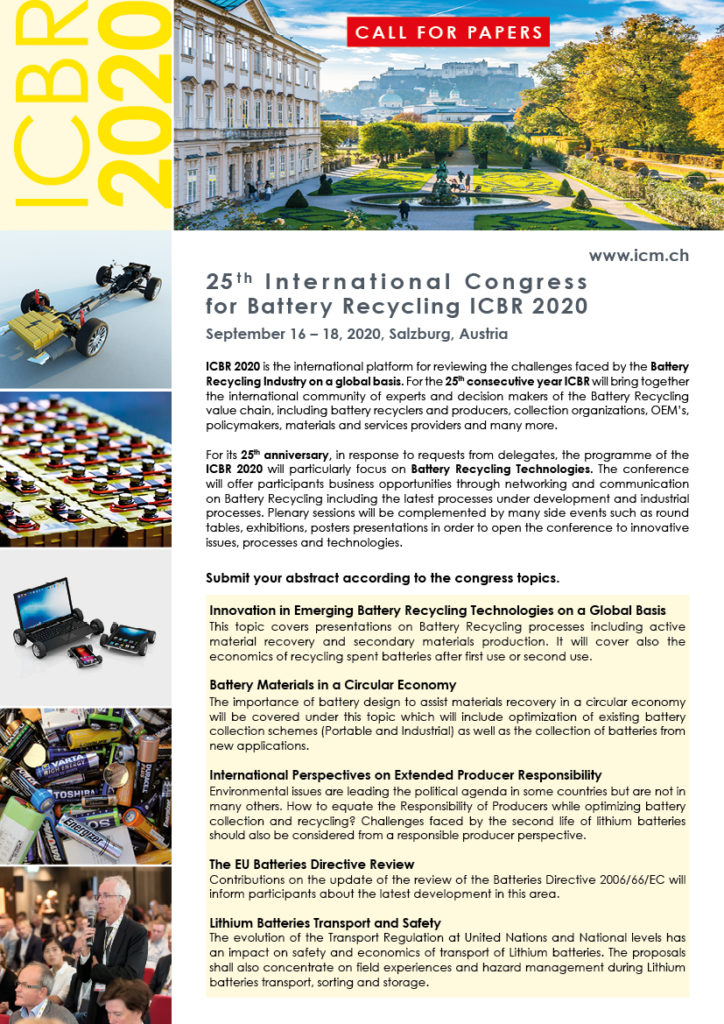 Call for Paper ICBR 2020